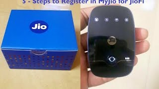 How to Register in MyJio for JioFi device customers