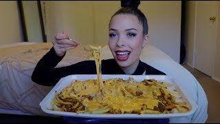 Chili cheese fries mukbang + story time
