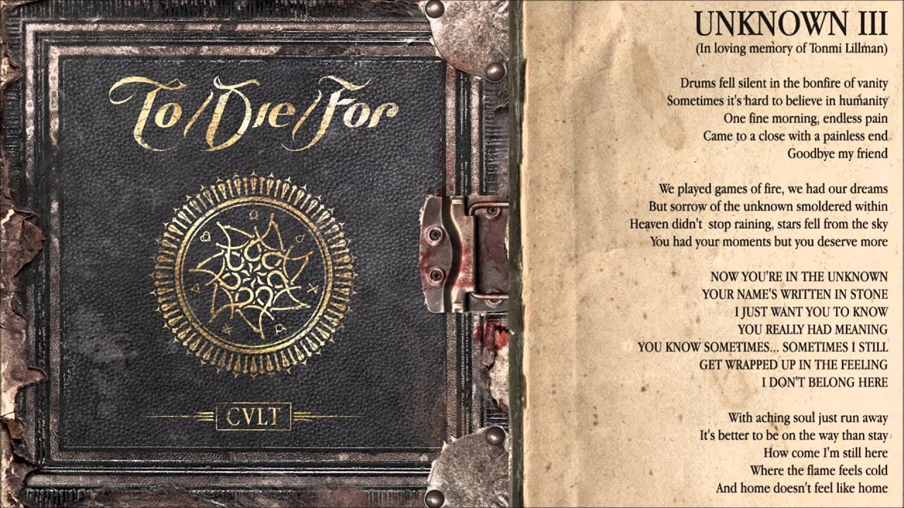 To/Die/For - Unknown III (2015) - To/die/for-Usa 2015-07-16 23:01