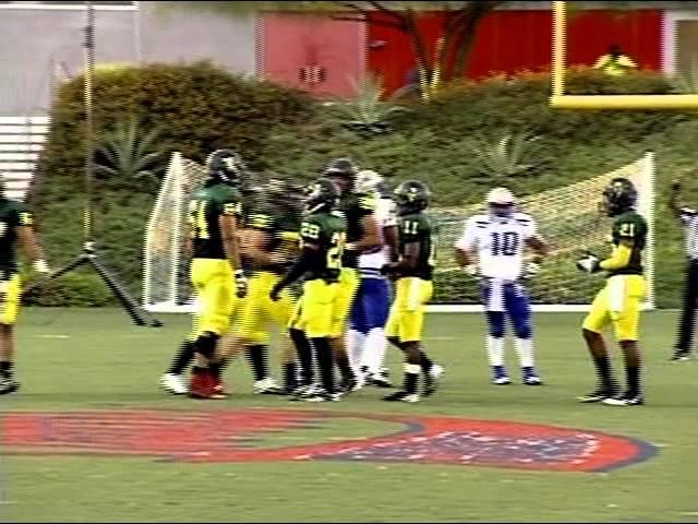 Golden West College Football vs. Alan Hancock College Part 1 9-15-12