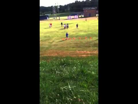 Football training at Indian land middle school