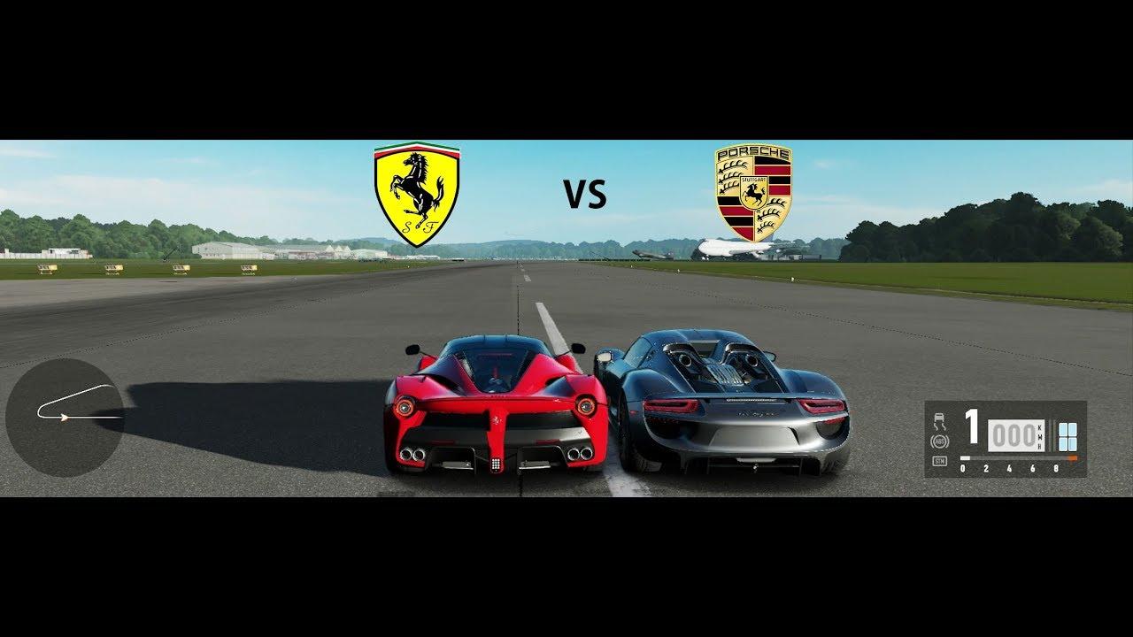 Forza Motorsport 7 Ferrari LaFerrari Vs Porsche 918 (Drag Race ... on mclaren p1 vs ferrari laferrari, ferrari 458 vs ferrari laferrari, pagani huayra vs ferrari laferrari, lamborghini aventador vs ferrari laferrari,