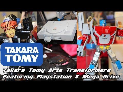 Takara Tomy Arts Transformers PlayStation Optimus & Mega Drive Megatron