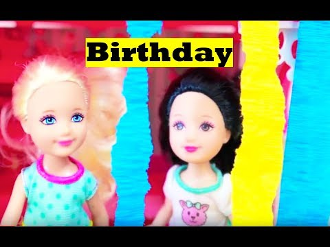 Frozen Barbie Chelsea BIRTHDAY PARTY Barbie Clubhouse Part 2...