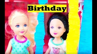 Frozen Barbie Chelsea BIRTHDAY PARTY Barbie Clubhouse Part 3 Toby Rapunzel Tangled AllToyCollector