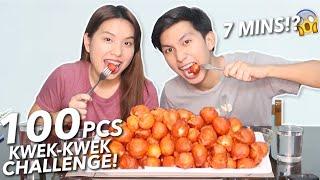 100 PIECES KWEK KWEK CHALLENGE in 7 MINS! (Kaya Ba?!) + Recipe