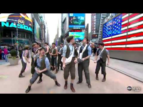 Carrying the Banner - Newsies - Good Morning America