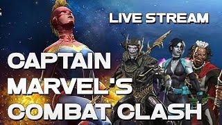 Captain Marvel's Combat Clash - Hard Path -  Live Stream!