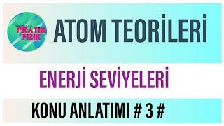 ATOM TEORİLERİ-3 (ENERJİ SEVİYELERİ ve SORU ÇÖZÜMÜ)(KAZIM HOCA PRATİK FİZİK)