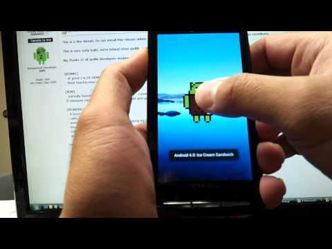 Xperia X10 - Android 4.0.1 - Ice Cream Sandwich - ALPHA!!!!