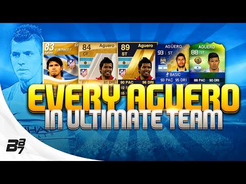 EVERY SERGIO AGUERO CARD ON FIFA ULTIMATE TEAM!