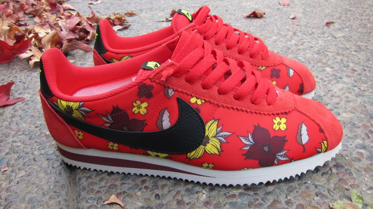 all red nike cortez