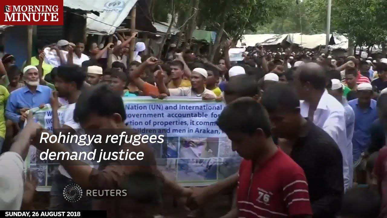 Rohingya refugees demand justice