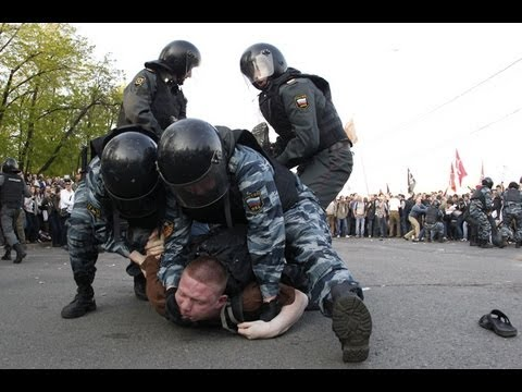 Hundreds detained at anti-Putin rally in Moscow