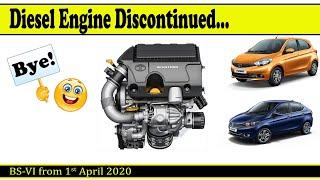 Diesel Tata Tiago and Tata Tigor to be DISCONTINUED...