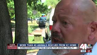 More than 40 animals rescued from KC home
