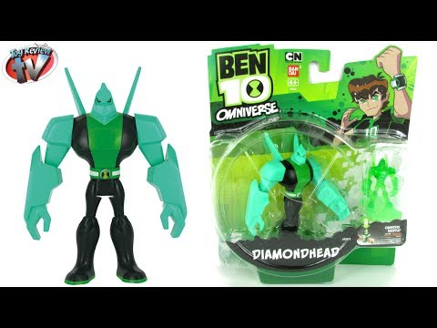 Ben 10 Omniverse Diamondhead Action Figure Toy Review. Bandai