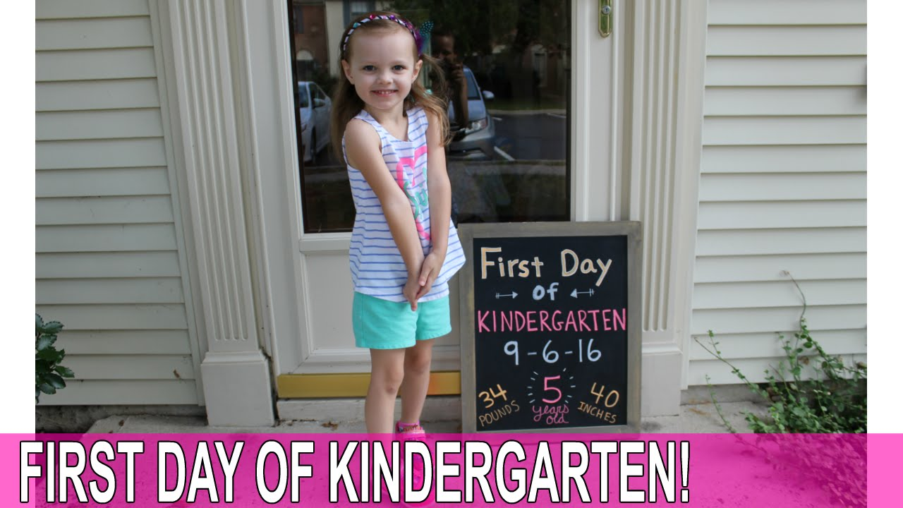 first day of kindergarden Your child's first day of kindergarten is a truly momentous occasion that is bound to invite a whole flood of emotions special activities before and after the first day will give your child memorable moments and a positive outlook on the upcoming year.