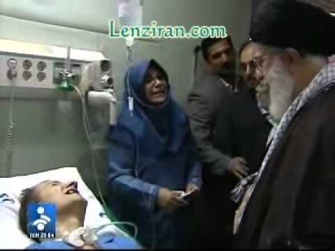 Khamenei talk with poet Ahmad Azizi while he is in coma since 2 years  !