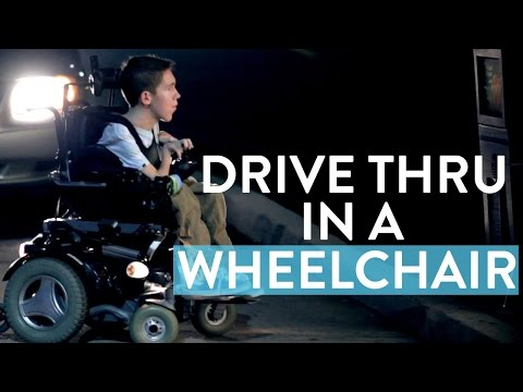 Shane Rides Wheelchair Through Drive Thru