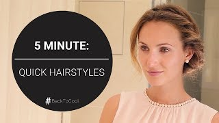 #BackToCool: 5 minute: Quick Hairstyle Tutorial