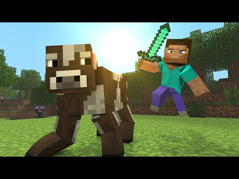 "Minecraft Song ♪ - ""Cow vs Steve"" a Minecraft Song Parody (Minecraft Animation)"