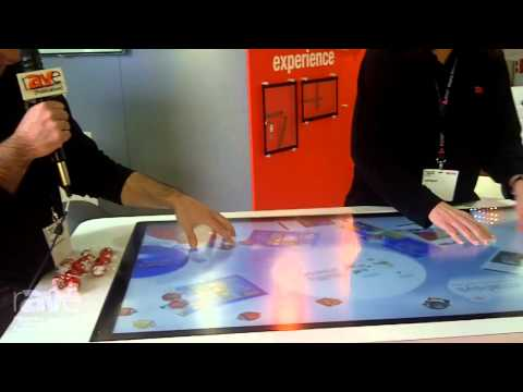 ISE 2015: 3M Touch Systems Demos 55″ Multitouch Display