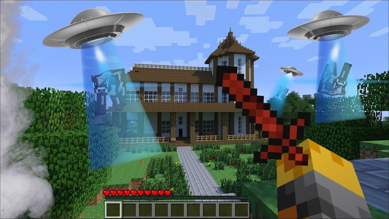 Minecraft ALIEN INVASION MOD / FIGHT AND SURVIVE THE ALIEN INVASION !! Minecraft