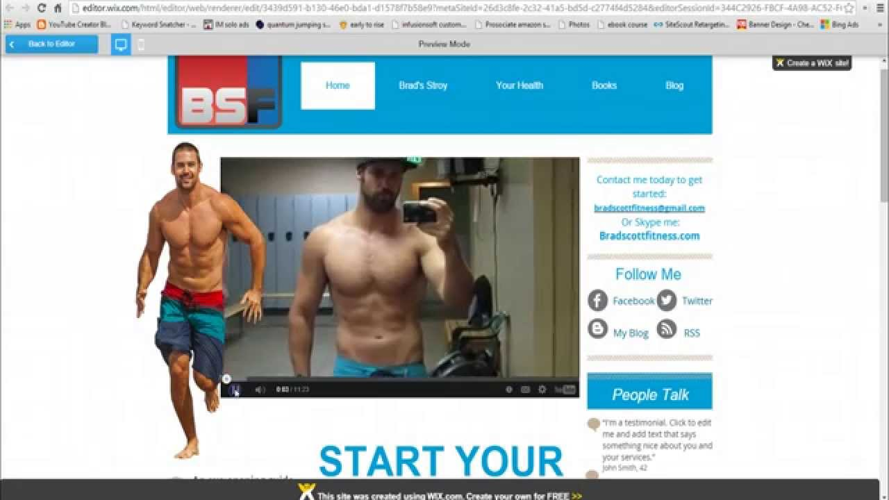 Wix Review Building My New Fitness Site With Free Drag And