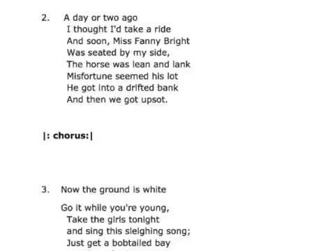 Jingle Bells Lyrics (All verses)