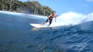 Surfing Bocas del Toro, Panama....Woody is rolling out Magic!
