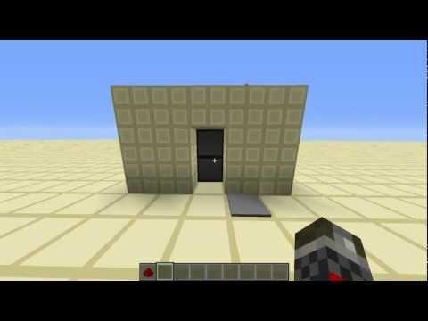 Piston Door Minecraft 2x1 2x1 Hidden Piston Door Super