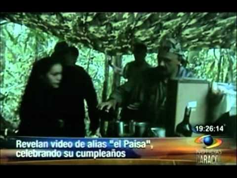 Revelan video de alias 'El paisa' festejando su cumpleaños