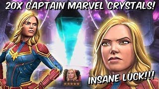 20x 5 Star Featured Captain Marvel 2019 Grandmaster Crystal Opening! - Marvel Contest of Champions
