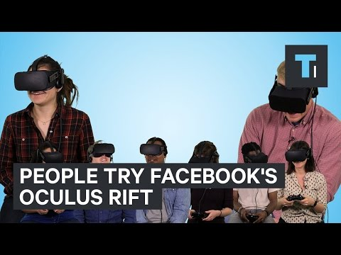 People try Facebook's Oculus Rift