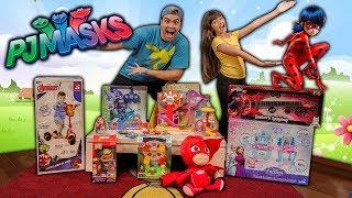 OS BRINQUEDOS DE DESENHOS FAMOSAS !!! (LADY BUG, PJ MASK, FROZEN, PAW)