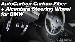 AutoCarbon Carbon Fiber + Alcantara Steering Wheel for BMW