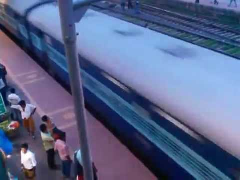 Sealdah  Jaynagar Ganga sagar Express , Crossing Dum Dum Jn  station at  lightning speed