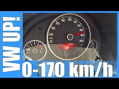 VW Up! 1.0 75 HP 0-170 km/h Acceleration & Top Speed Run Test