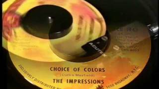 Watch Curtis Mayfield Choice Of Colors video