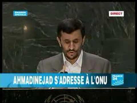1-Ahmadinejad s'adresse à l'ONU 1/2 (en français)