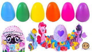 Surprise Rainbow Egg Babies  with My Little Pony Eggs - Toy Video