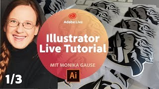 Illustrator Live Tutorial / mit Monika Gause - Adobe Live 1/3