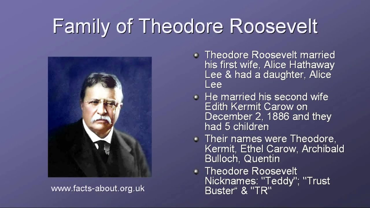 the early life of theodore roosevelt Theodore roosevelt: the early years clip: season 1 | 3m 26s as a young man, theodore roosevelt was weak, had a poor heart, and was not expected to live a very long life yet during his years at .