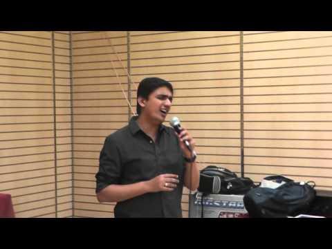 Krishna Chaitanya sings Eduta Nilichindi .. from Vaana at Hilltop...
