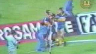 Gol de Latorre a Independiente (Boca 3-Indep. 0 18-01-90)
