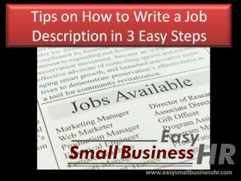 How to Write a Job Description in 3 Easy Steps
