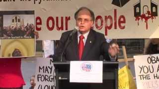 Hon David Clarke MLC Sec. for Justice at Copts Protest Sydney April 2013