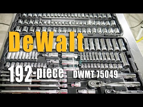 DeWalt Mechanics Tool Set DWMT75049 192pc Review