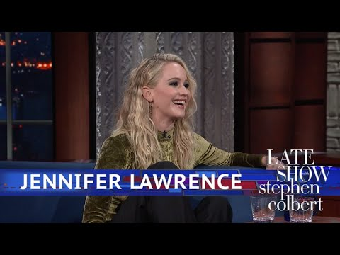 Jennifer Lawrence And Stephen Kick Off Their Shoes